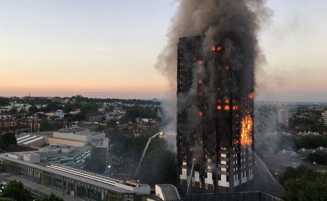 Massive London Fire Traps Many In Homes, Screams Heard From Upper Floors